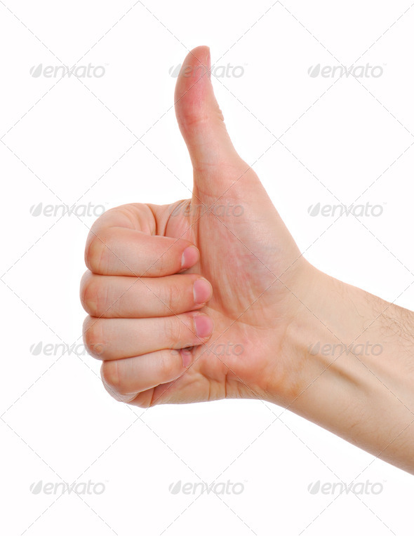 Human Thumb. Good. - Stock Photo - Images