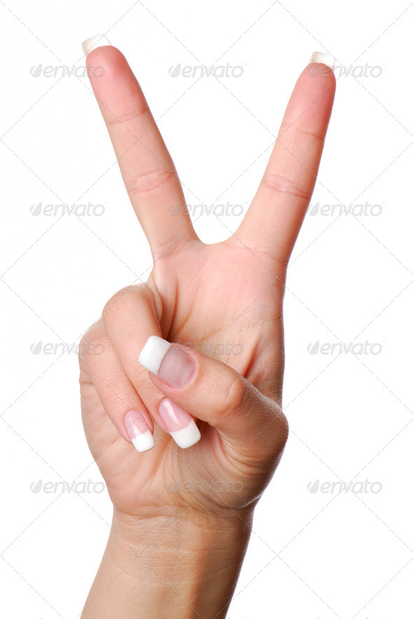 Gesture number two. - Stock Photo - Images