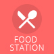 Food Station Mobile Social - GraphicRiver Item for Sale