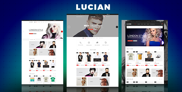 Lucian - eCommerce Fashion Template - Fashion Retail