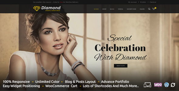 Diamond – Responsive WooCommerce Theme