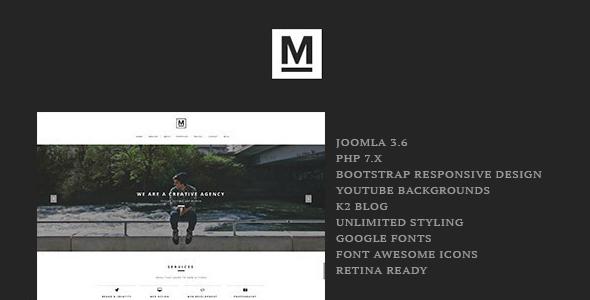 Max - Creative & Minimal One Page Joomla Template - Creative Joomla
