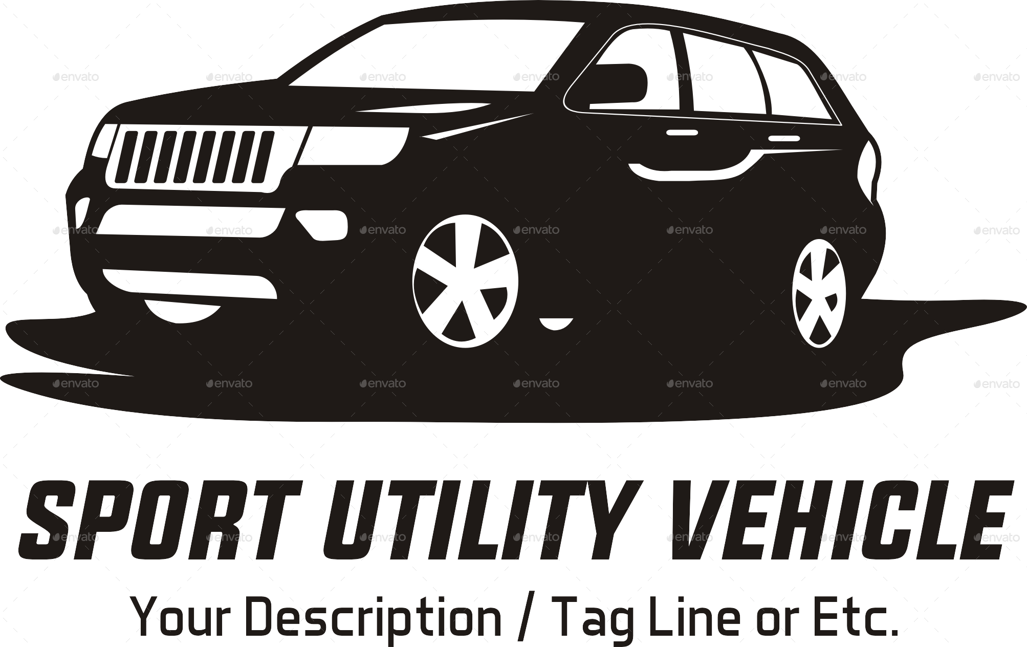 Suv Car Logo Template By Yokoz Graphicriver