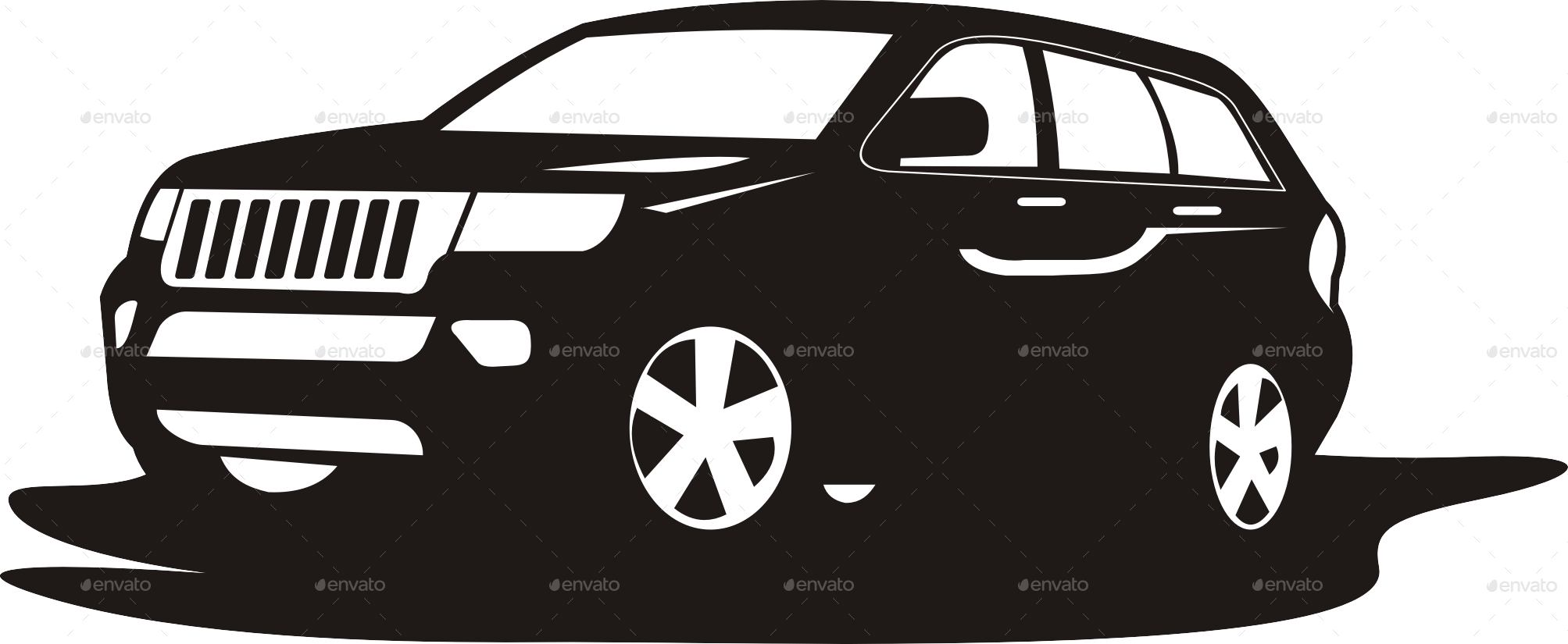 Suv Car Logo Template By Yokoz Graphicriver