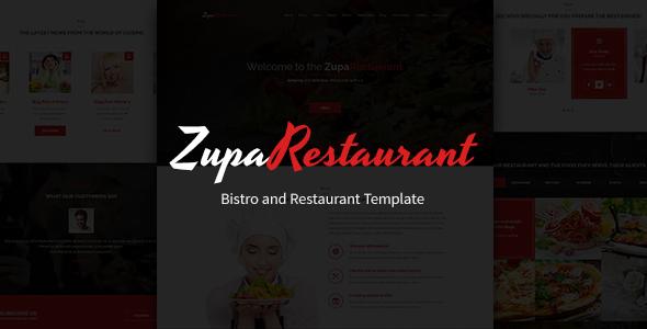 ZupaRestaurant – Bistro and Restaurant PSD Template