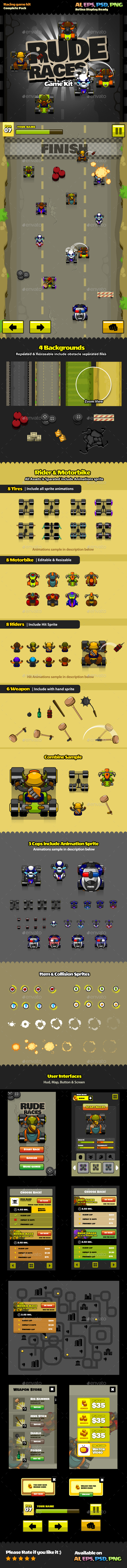 Rude Races  - Game Kits Game Assets
