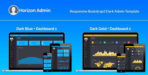 Horizon – Responsive Bootstrap3 Admin Template