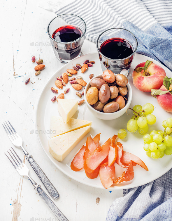 Wine snack set - Stock Photo - Images
