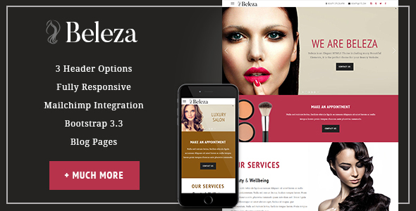 Beleza – Beauty One Page HTML5