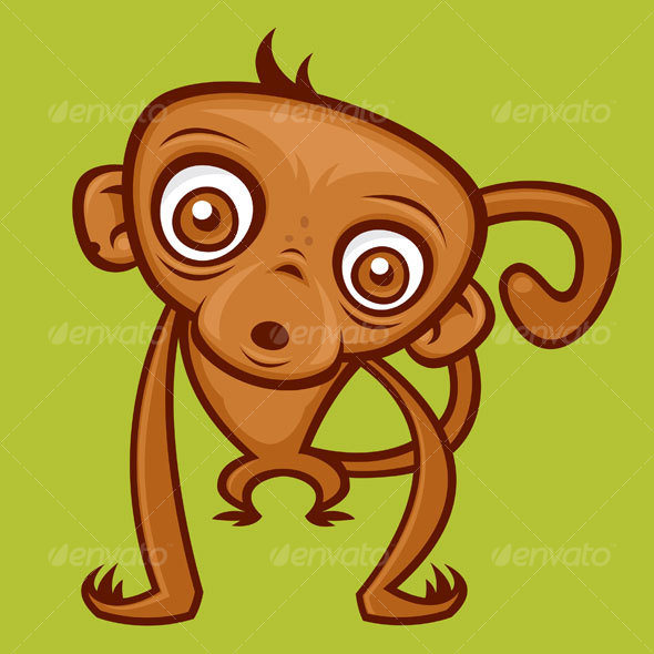Monkey Cartoon Character - Animals Characters