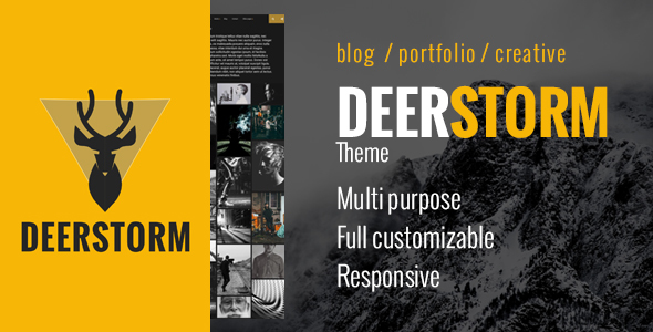 Deerstorm – Fully Customizable Responsive Timeline Blog & Portfolio Theme