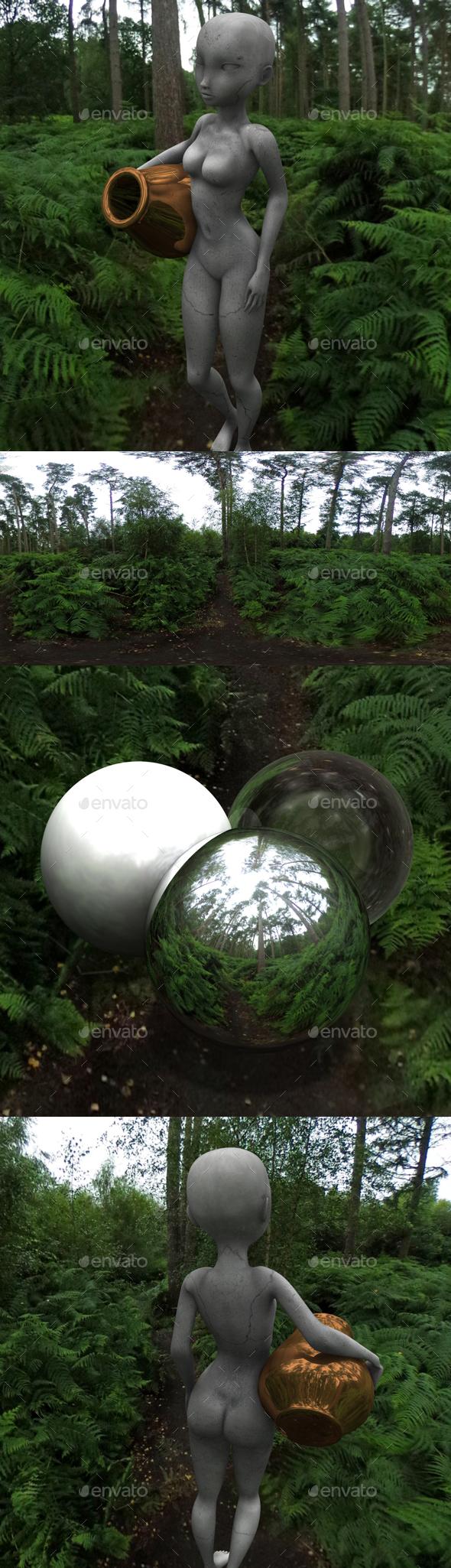 Fern Forest HDRI - 3DOcean Item for Sale