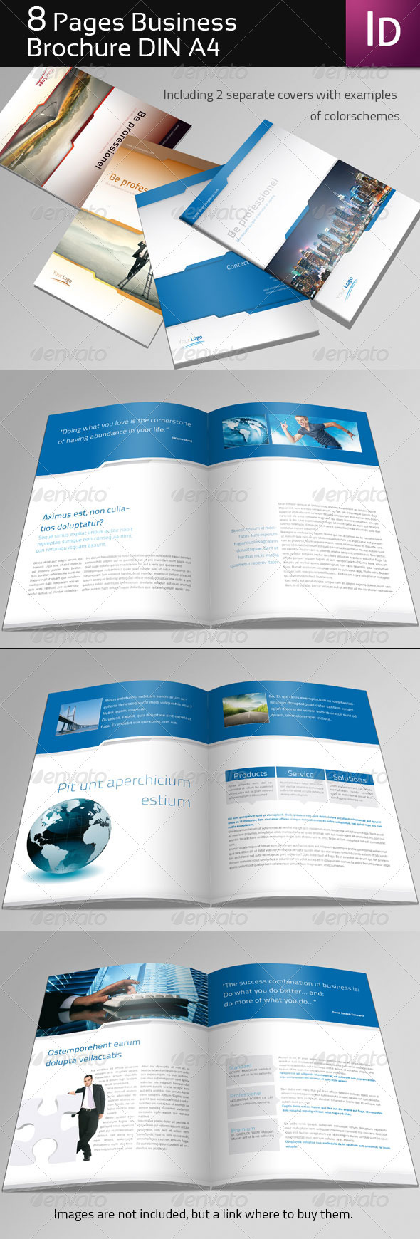 Page Business Brochure By Corrella GraphicRiver - 8 page brochure template