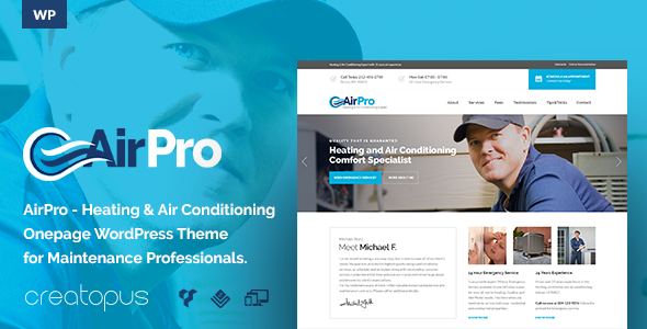 AirPro – Heating and Air conditioning WordPress Theme for Maintenance Services