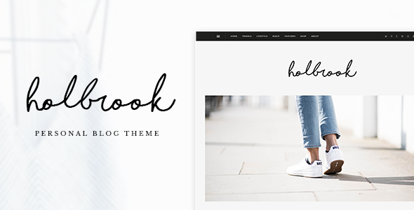 Holbrook – Personal Blog PSD Template