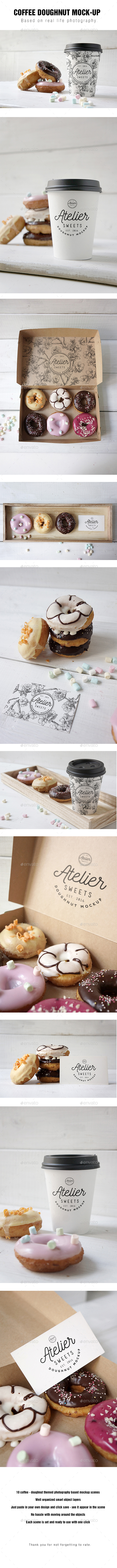 Coffee Doughnut Mockup - Food and Drink Packaging