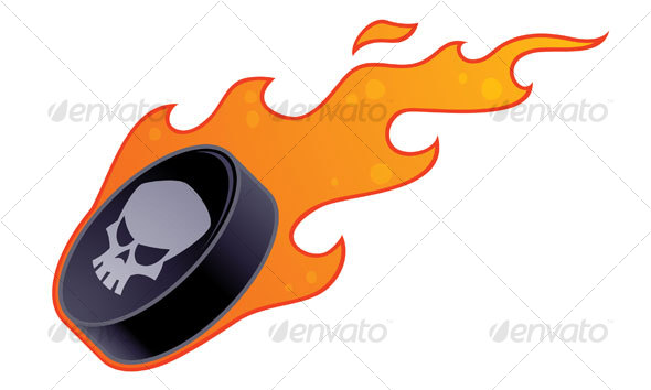 Flaming Hockey Puck - Sports/Activity Conceptual