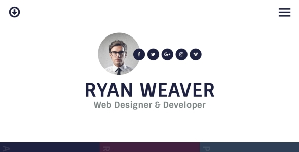 Insurgent - Personal Vcard Resume HTML Template - Virtual Business Card Personal