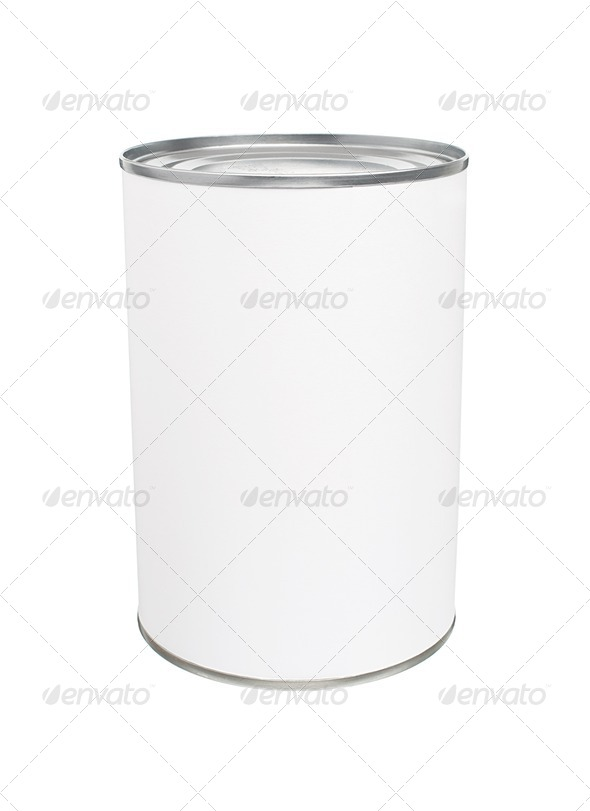 Blank Tin Can - Stock Photo - Images