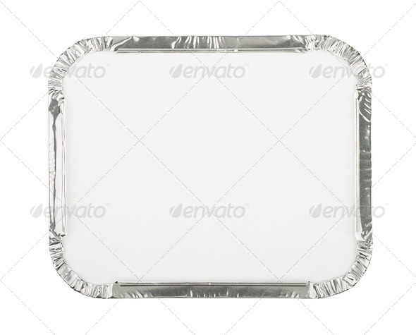 Blank Foil Food Container - Stock Photo - Images