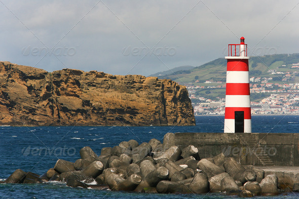 small lighthouse  - Stock Photo - Images