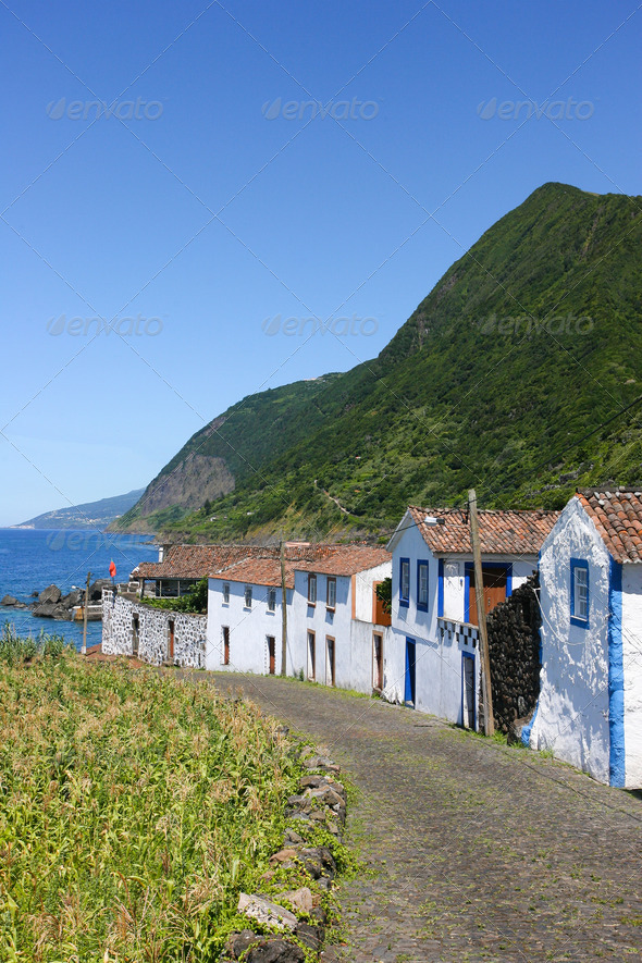 Azores typical houses  - Stock Photo - Images