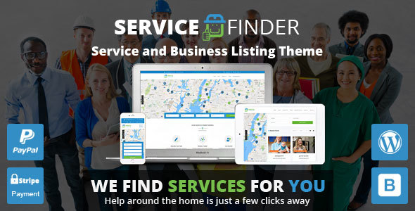 Service Finder - Provider and Business Listing WordPress Theme - Directory & Listings Corporate