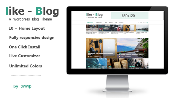 Like Blog – A WordPress Blog Theme