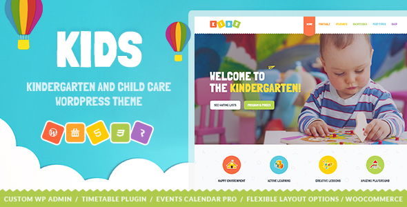 Kids - Day Care & Kindergarten WordPress Theme for Children