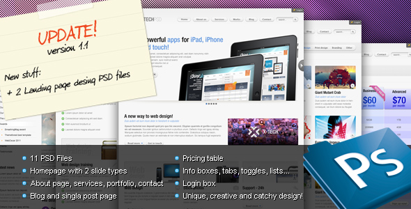 Free Download X-Tech Premium Psd template Nulled Latest Version
