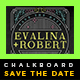 Elegant Chalkboard Save The Date Postcard | Volume 2 - GraphicRiver Item for Sale