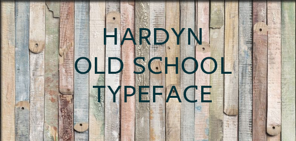 Hardyn typeface - Old English Decorative