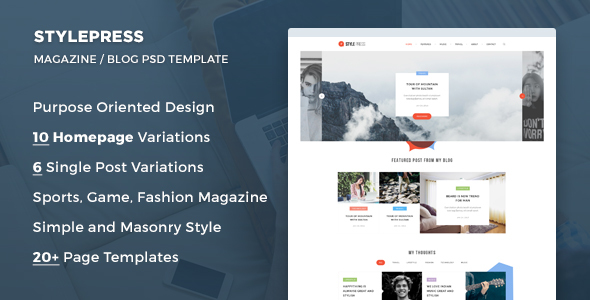 StylePress - Magazine and Blog PSD Template - Creative PSD Templates