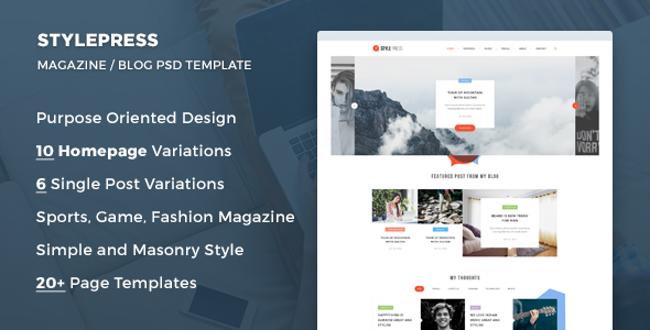 StylePress - Magazine and Blog PSD Template