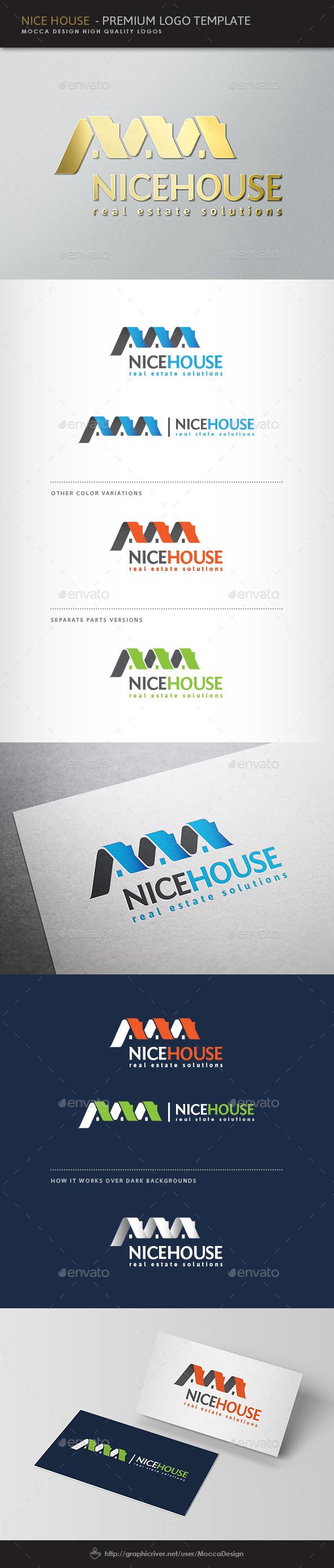 Nice House Logo - Buildings Logo Templates