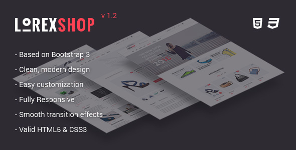 LOREX - Multipurpose Ecommerce HTML5 Template - Fashion Retail