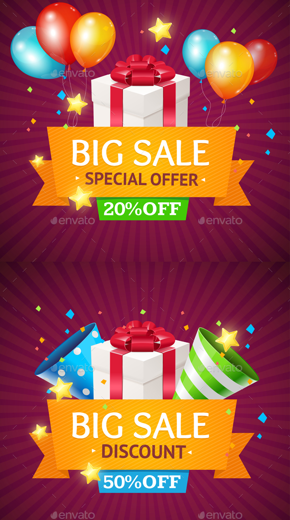 Sale Card With Gift Box Vector By Mousemd Graphicriver