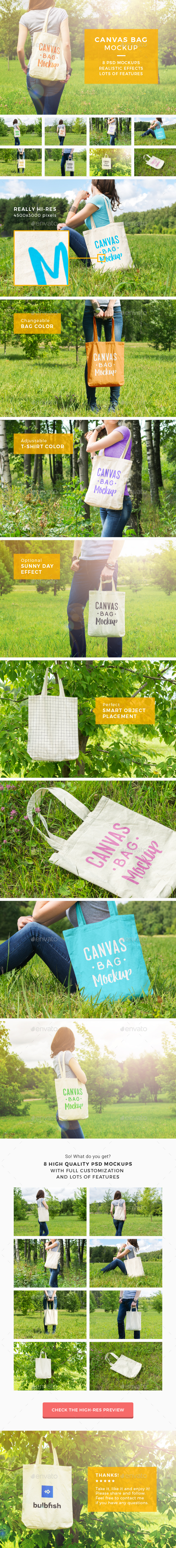 Canvas Bag Mockup - Miscellaneous Packaging