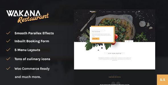 Wakana Restaurant – A Multi Cuisine Restaurant Theme