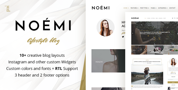 Noemi – Lifestyle Blog Theme