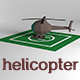 Low Poly Helicopter and Area - 3DOcean Item for Sale