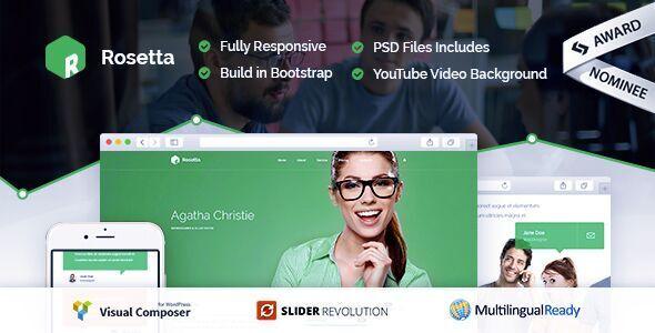 Rosetta - Multipurpose WordPress Theme - Corporate WordPress