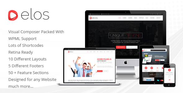 Elos Responsive Multipurpose WordPress Theme