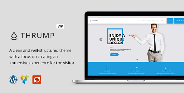 Thrump – Modern Business WordPress Theme