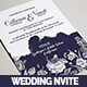 Watercolor Wedding Invitation Set - GraphicRiver Item for Sale