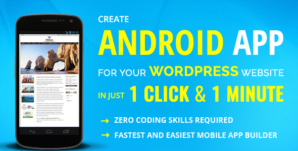Wapppress - Builds Android Mobile App for Any Wordpress Website - CodeCanyon Item for Sale
