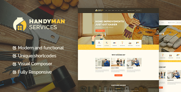 Handyman | Construction and Repair Services WP Theme - Business Corporate