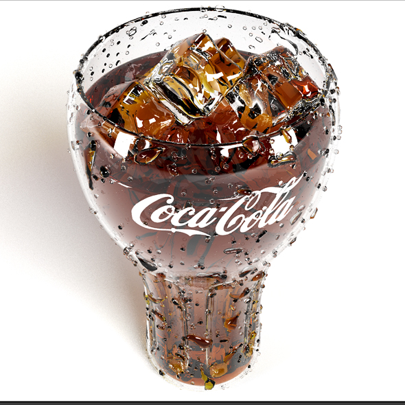cocacola glass - 3DOcean Item for Sale