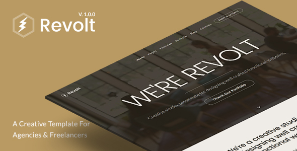 Revolt – Creative Portfolio Template for Agencies & Freelancers