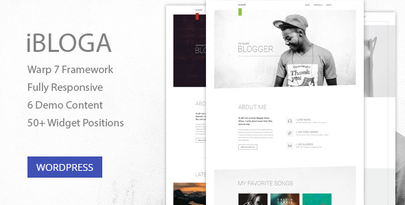 iBloga — Creative Multipurpose Blog/Portfolio WordPress Theme